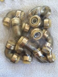 Plumbing Lot Of 10 Pieces 1 2 Sharkbite Style Push Fit 90 Elbow