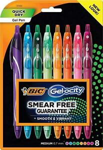Bic Gel ocity Quick Dry Gel Pens Medium Point Retractable Gel Pen 0 7mm
