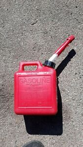 1 Gallon Gas Can Red Vented Plastic Liquid Container