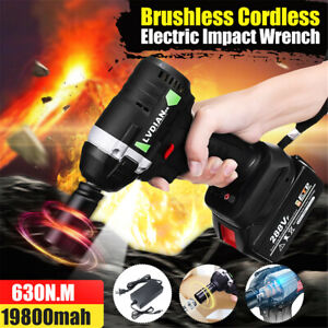 288vf 630n m Electric Impact Wrench 1 2 Brushless Cordless With Li ion Battery