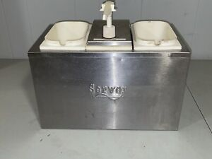 Server 3 Tray Cold Station I Drop in Condiment Dispenser Pump System Needs Pumps