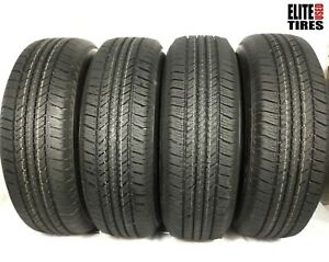 Set Of 4 Bridgestone Dueler H t 684 Ii P265 70r17 265 70 17 Tire Driven Once
