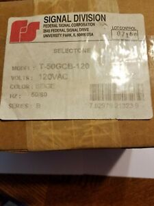 new Federal Signal T 50gcb 120 Selectone Speaker Amplifier Round Ceiling Mount