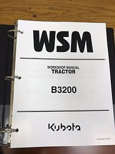 Kubota B3200 Tractor Workshop Service Repair Manual Binder