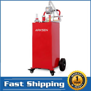 New 35 Gallon Gas Fuel Diesel Caddy Transfer Portable Tank W pump Container Red
