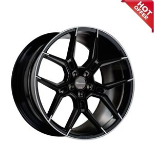 20 Inch Giovanna Wheels Haleb Gloss Black With Machined Lip And Tips Rims