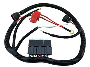 Ecu Control Dual Electric Fan Upgrade Wiring Harness Kit For 96 06 Gm Truck Suv