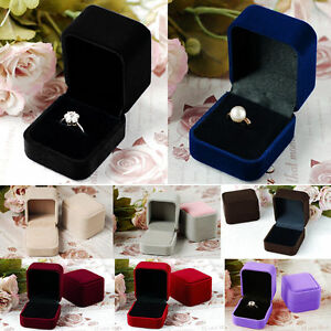 New Velvet Presentation Gift Jewellery Earring Ring Necklace Display Box Case Ca