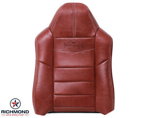 2008 2010 F250 King Ranch driver Side Lean Back Replacement Leather Seat Cover