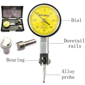 New Dial Gauge Test Indicator Precision Metric With Dovetail Rails Mount