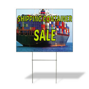 Weatherproof Yard Sign Shipping Container Sale Advertising Printing Lawn Garden
