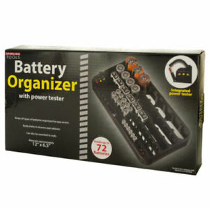 Battery Organizer With Power Tester Organize All Batteries Test Them