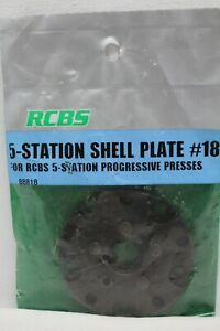 New RCBS 5 Station Shell Plate #18 88818 44 mag 44 Special Free Shipping $54.00