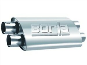 Borla Universal Proxs Muffler Oval Dual dual Inlet outlet 2 5in Tubing 19inx4