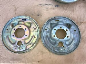 1964 1965 1966 Ford Mustang 6 Cyl 4 Lug Rear Brake Backing Plates Left Right
