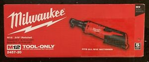 Milwaukee M12 3 8 Ratchet Tool Only 2457 20 Fast Shipping