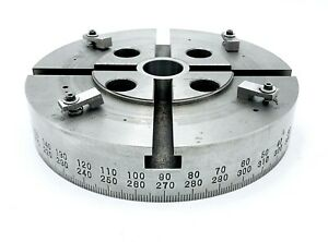 8 Indexing Rotating Table Chuck Holding Wheel 360 degree Both Ways 4 T slots