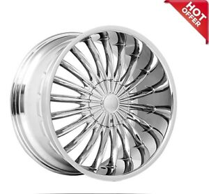 26 Inch Velocity Wheels Vw11 Chrome Rims S15