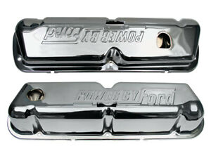 New 1968 72 Ford Valve Covers 302 351w Power By Ford Fairlane Mustang Chrome