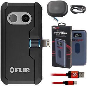 Flir One Pro Thermal Imaging Camera For Ios With Deco Gear Usb Power Bank Bundle
