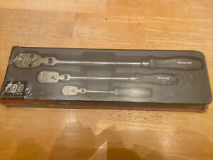 New Snap On 100th Year Anniversary Hard Handle Flex Head Ratchets Rat3hlfdce