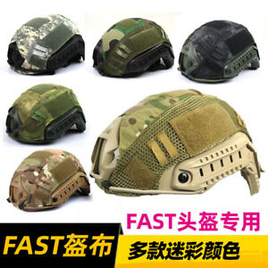 Tactical Paintball Military Camo Helmet Cover for Airsoft FAST MH PJ Helmet $9.21
