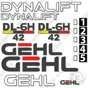 Gehl Dl6h 42 Decal Kit Telescopic Forklift Decals Telehandler 7 Year 3m Vinyl