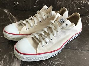 Converse All Star Mens Size 14 Ivory Low Tops Lace Up Vintage $34.95