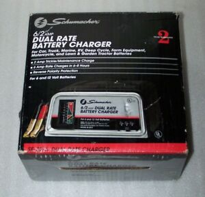 Schumacher Electric Battery Charger Model Se 82 6 Dual Rate 6 12 Volt 6 2 Amp
