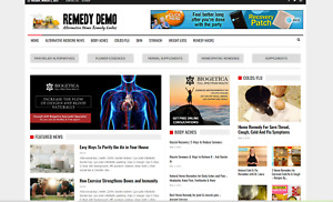 Remedy News Guides alternative Affiliate Product Website 100 Automated