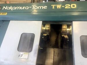 Nakamura tome Tw 20 Cnc Lathe 1999 Twin Spindle Twin Turret Fanuc