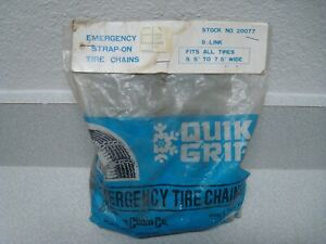 Quik Grip Emergency Strap On Tire Chains 20077 Fits 5 5 7 5 Wide 2 In Pack