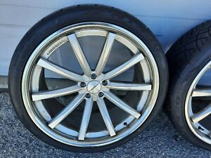 2 22x10 5 Vossen Ws cv1 German Wheels 5x112 Rims 295 30 22 Tires 295 30r22