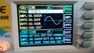 Dual Channel Frequency Counter Function Arbitrary Waveform Signal Generator