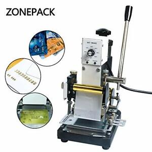 Hot Foil Stamping Machine Manual Tipper Stamper Bronzing For Pvc Id Credit Card