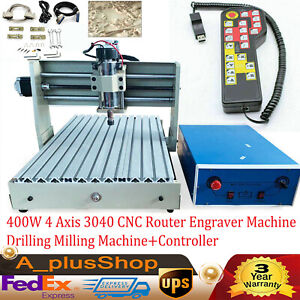 400w 4 Axis Engraver Machine 3040 Cnc Router Drilling Milling Machine controller