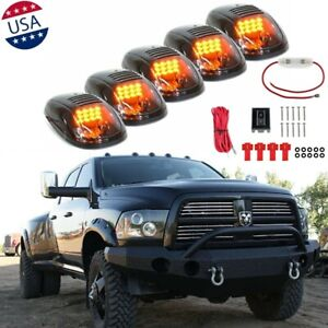 Smoked Lens Rooftop Cab Amber Running Light Drl Led For Dodge Ram 1500 2500 3500