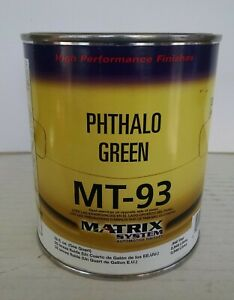 Matrix Mt 93 Phthalo Green Automotive Tint For Matrix Or Ppg Paint Mixing