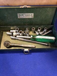 Vintage Sk Tools 1 4 Drive Sae Socket Set Made In Usa