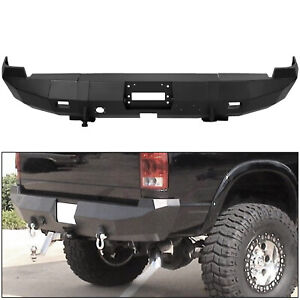 Black Rear Stealth Winch Bumper For 02 09 Dodge Ram 1500 2500 3500 4500 5500 New