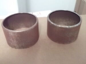 1957 Chevy 2x4 Bat Wing Air Cleaner Stacks Pair