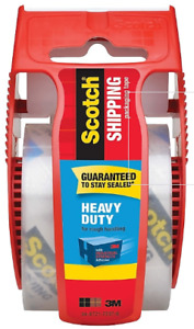 Scotch Heavy Duty Shipping Packing Tape With Dispenser 1 88 X 22 2 Yds