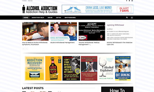 Alcohol Addiction Guide Website Affiliate Product Website 100 Automated