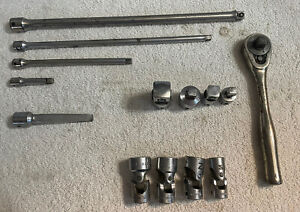 Lot Of 14 Cornwell Tools 1 4 38 Extensions Swivel Sockets Reducer Adapter