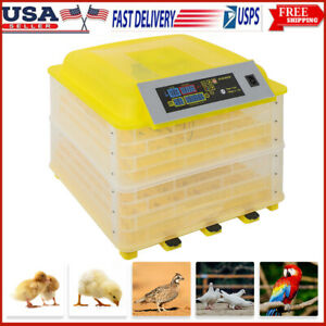 56 112 Eggs Chicken Goose Incubator Automatic Egg Incubator Poultry Hatcher 110v