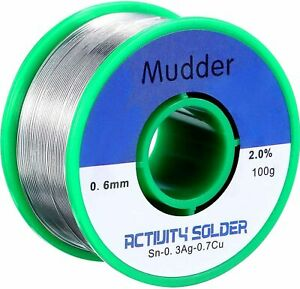 Mudder Lead Free Solder Wire Sn99 Ag0 3 Cu0 7 With Rosin Core For Electrical