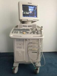 Phillips Envisor C Ultrasound Machine Three Transducers Only