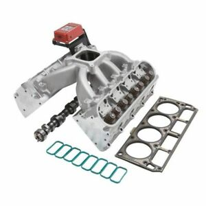 Edelbrock 2081 Top End Engine Kit Power Package Intake Vic Jr E cnc Heads C