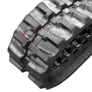 Two Rubber Tracks For Mini Excavator Rubber Track Replacement 180x72x39