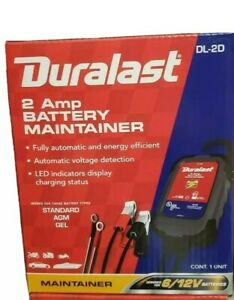 Duralast 2 Amp Battery Maintainer With Display Charging Status